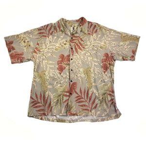 Tori Richard Hawaiian Shirt Mens 2XL Vintage Brown